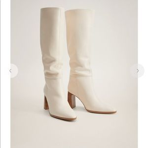 Mango authentic genuine leather boots